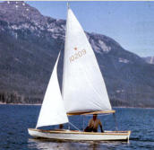 16' wood Snipe, first sailboat, 1968