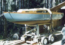 23' Cub, first cabin sailboat, as refinished 1971